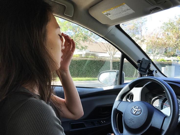 red light irritation